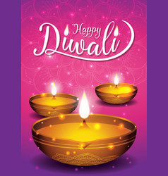 diwali festival flyer and poster background vector image