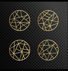 logo design geometric round gold logo vector image