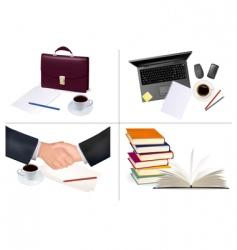 mega set of office backgrounds vector image vector image