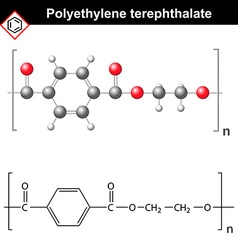 Polyethylene terephthalate polymer vector image