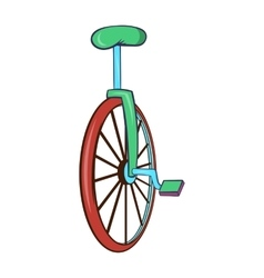 Unicycle or one wheel bicycle icon cartoon style vector image vector image
