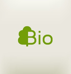 Bio logo eco label natural product sign organic vector image
