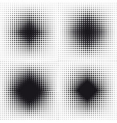 halftone effect set abstract background vector image
