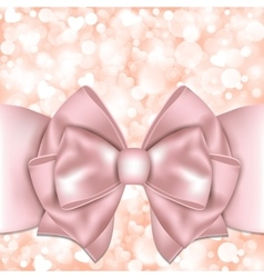 Holiday background with pink bow vector image