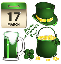 st patricks day set vector image vector image
