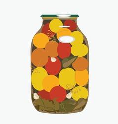 bank of yellow tomatoes2 vector image