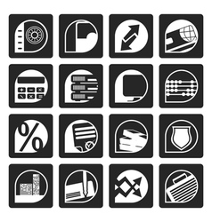Black Business and Office Internet Icons vector image vector image