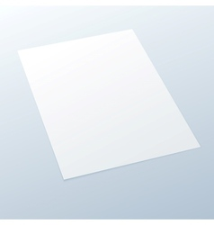 Blankempty A4 office paper on a light background vector image vector image