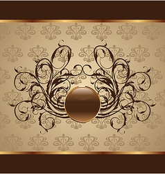 gold floral packing design element - vector image vector image