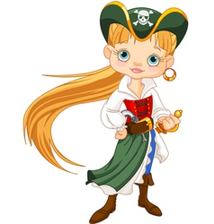 Pirate Girl vector image vector image