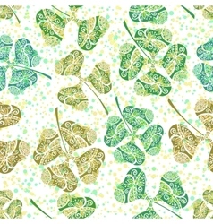 Seamless Tile Ornament Clover Plants vector image vector image