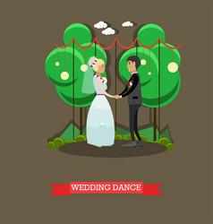 wedding dance in flat style vector image vector image