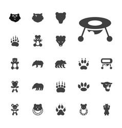 22 bear icons vector image