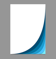 Abstract brochure template from curved stripes vector