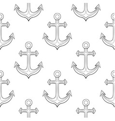 Anchors as seamless background vector