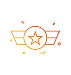 award champion reward icon design vector image