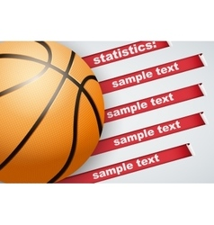 Background of Statistics Basketball vector image