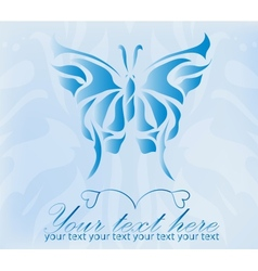Beautiful vintage blue butterfly vector image