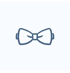 Bow tie sketch icon vector