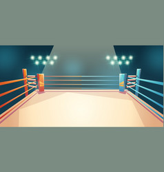Box ring arena for sports fighting empty area vector