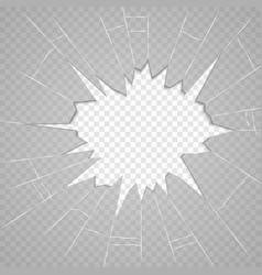 broken glass texture isolated realistic cracked vector image