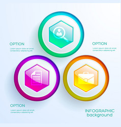business infographic web chart template vector image
