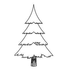 cartoon christmas tree decoration celebration vector image