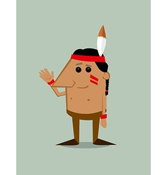 Cartoon native american man vector