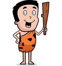 Caveman boy vector