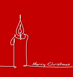 Christmas card - continuous line drawing vector