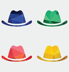 Classic hat icon Abstract Triangle vector