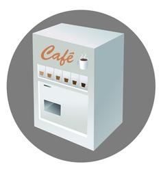Coffee vending machine vector