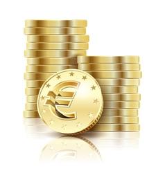 coins gold euro vector image