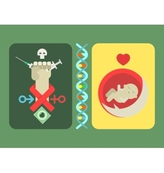 Concept of fighting AIDS vector image