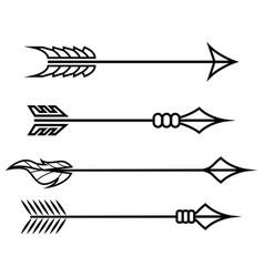 crossbow arrows set different arrow symbols vector image