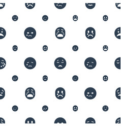 Cry icons pattern seamless white background vector