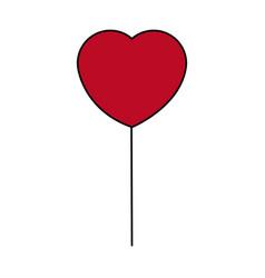 Cute heart balloon celebration decoration image vector