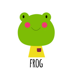 cute little frog animal icon vector image