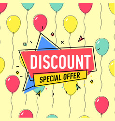 discount proposition poster vector image