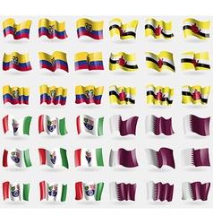 Ecuador Brunei Bosnia and Herzegovina Federation vector