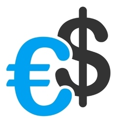 Euro Dollar Currency Icon vector