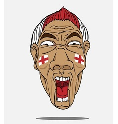 football fan from England vector image
