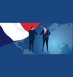 france international partnership diplomacy vector image
