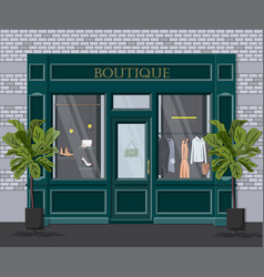 graphic facade vintage boutique detailed vector image