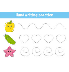 Handwriting pactice education developing vector