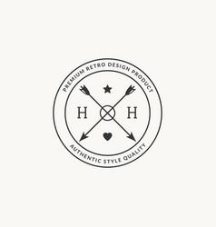 hipster arrow premium logo arrowhead minimal vector image