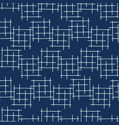Indigo blue japanese style criss cross lines vector