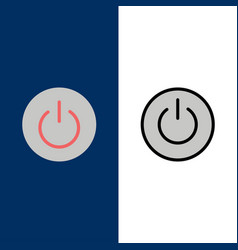 interface on power ui user icons flat and line vector image