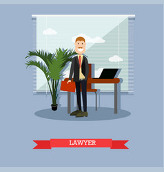lawyer in flat style vector image