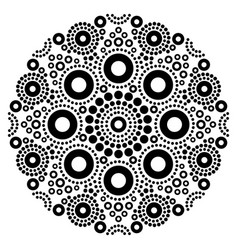 mandala black and white art australian vector image